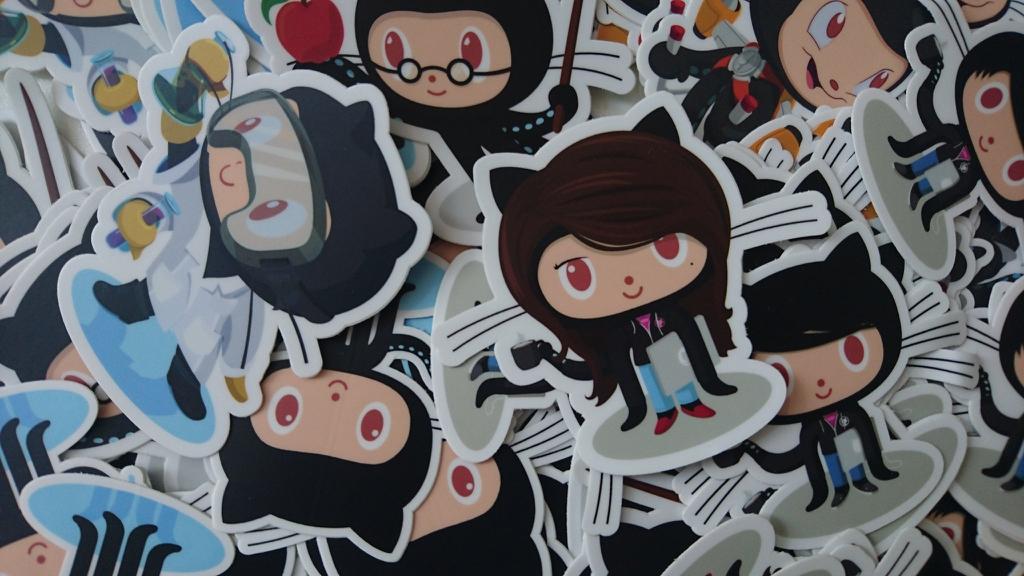 GitHub nálepky